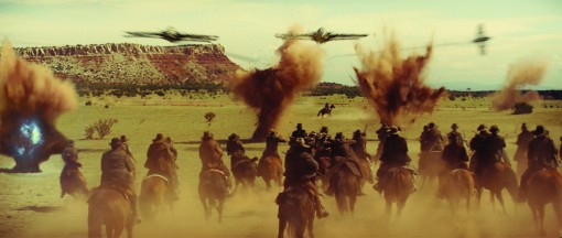 The cowboys fight for their lives in an event film for summer 2011 that crosses the classic Western with the alien-invasion movie in a blazingly original way: Cowboys & Aliens