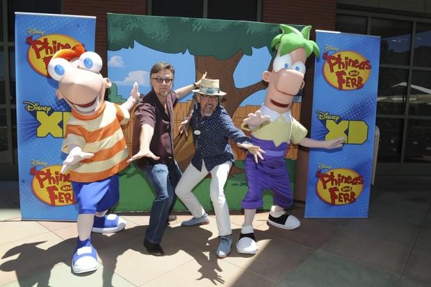 "Phineas & Ferb creators - Dan Povenmire and Jeff ""Swampy"" Marsh"