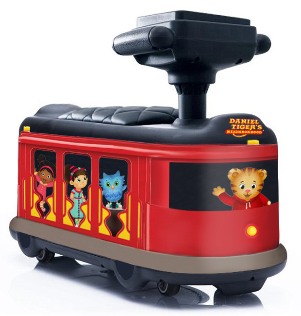 Daniel Tiger's Neighborhood Trolley Push Car