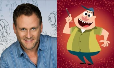 Dave Coulier (photo) and Bob Harper (cartoon)