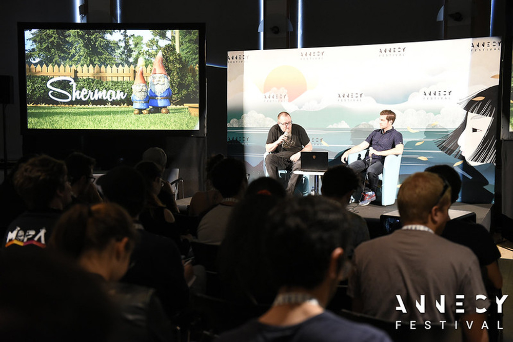 Demo Session, real-time animation with Unity [Photo: Annecy Festival/F. Blin]