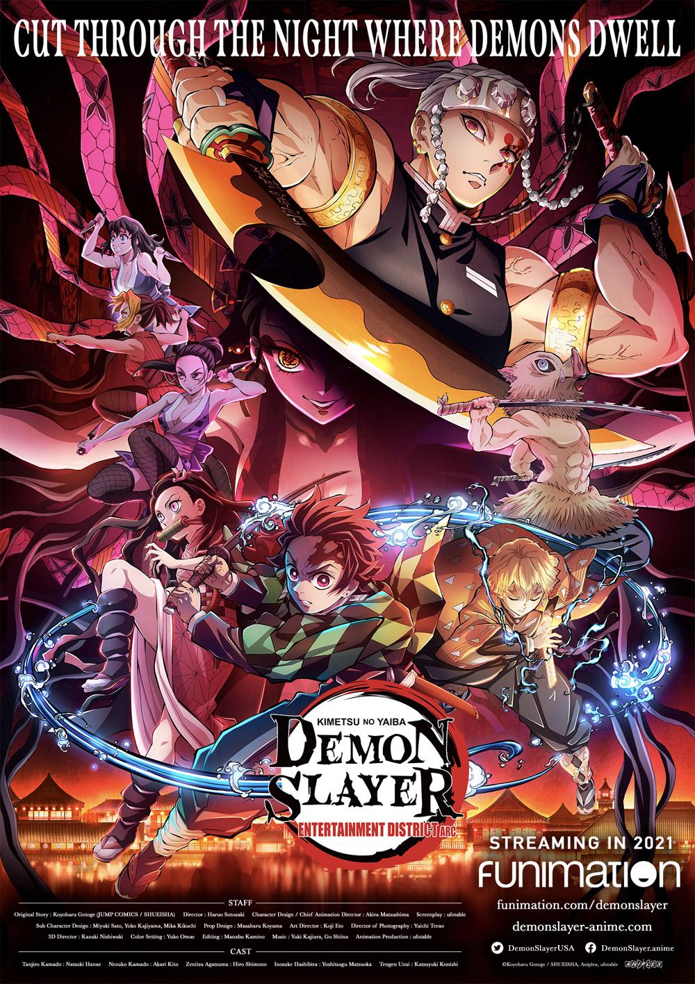 Demon Slayer: Kimetsu no Yaiba Entertainment District Arc [©Koyoharu Gotoge / SHUEISHA, Aniplex, ufotable]