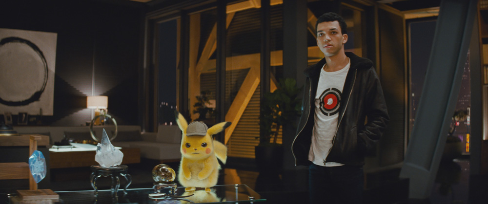 Justice Smith and Pikachu