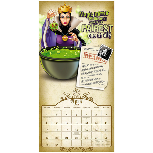 Disney Villains 2018 Calendar