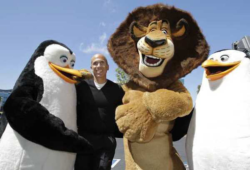 Jeffrey Katzenberg and friends at the Redwood City groundbreaking. (Photo by Paul Sakuma)