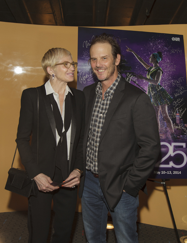 Actress ELLEN BARKIN and Director/Actor PETER BERG (both presenters)