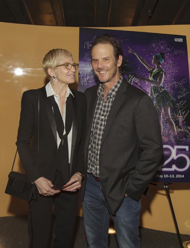 Actress ELLEN BARKIN and Director/Actor PETER BERG (both presenters)