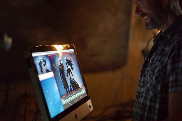 """Anthony Scott on set of Eels """"Bone Dry."""" Photo by Cassandra Church."""