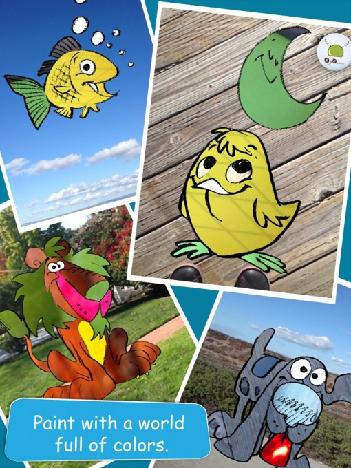 Curious Hat 's Eye Paint Animals app