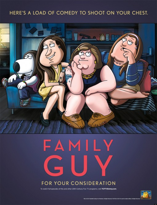 Family Guy Spoofs Girls in Emmy Ad