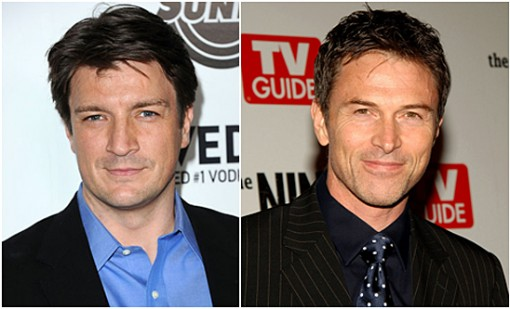 Nathan Fillion (left) and Tim Daly