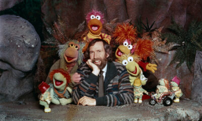 Jim Henson with the original Fraggles of Fraggle Rock.