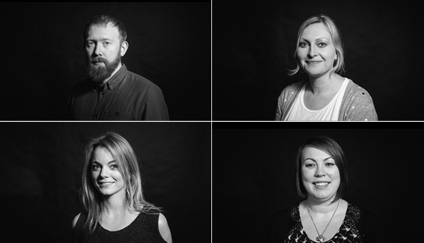 top left (Alex Fitzgerald), top right (Anna MacDonald), bottom left (Niamh O'Donohoe), bottom right (Heather Kinal)