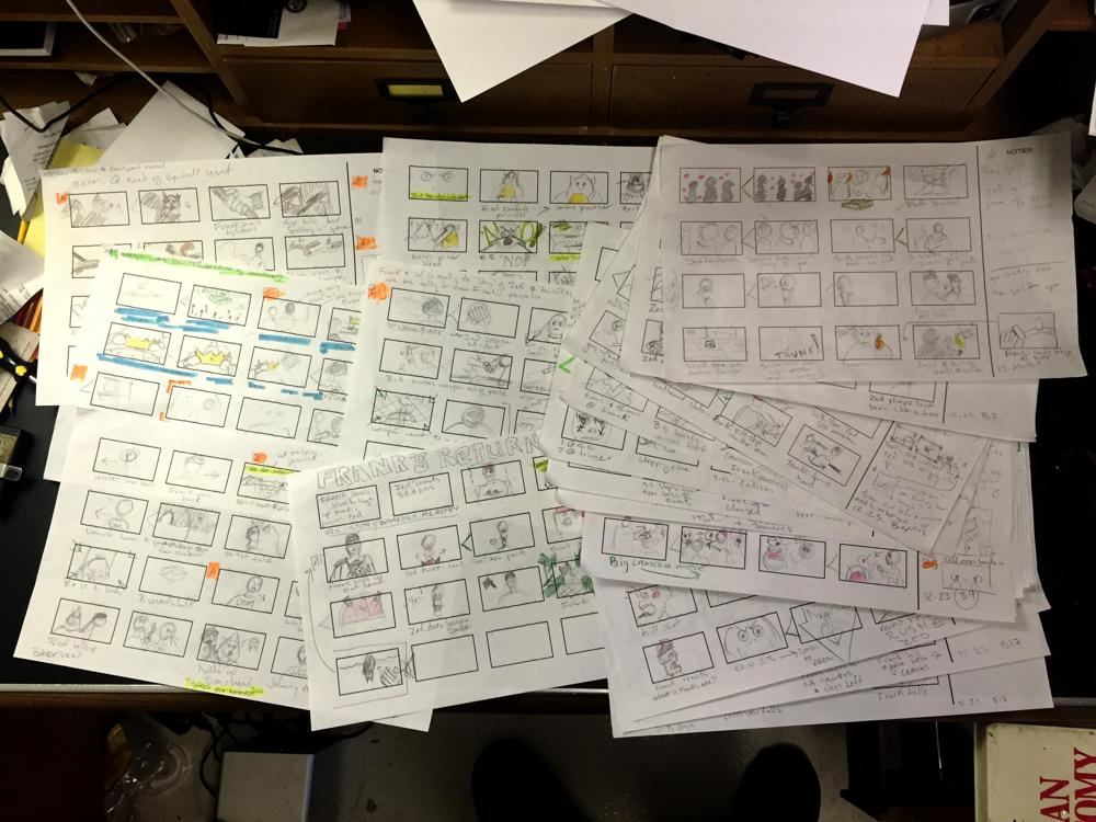 Frank & Zed storyboards