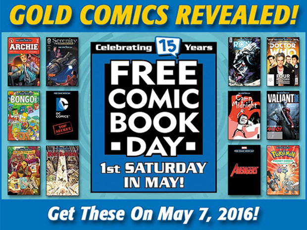Gold Titles Announced for Free Comic Book Day 2016