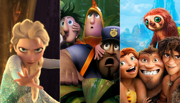 Frozen / Cloudy With a Chance of Meatballs 2 / The Croods