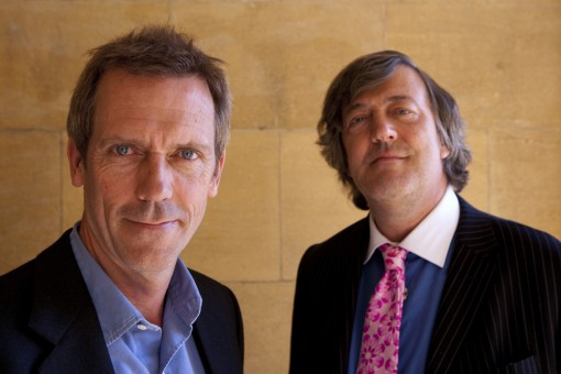 Hugh Laurie (left) and Stephen Fry (right)
