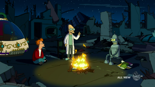 "Futurama's ""The Late Philip J. Fry"" episode"
