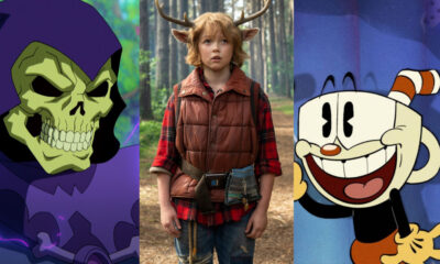 L-R: Masters of the Universe: Revelation, Sweet Tooth, The Cuphead Show!