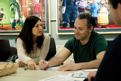(from left) Michelle Murdocca and Genndy Tartakovsky