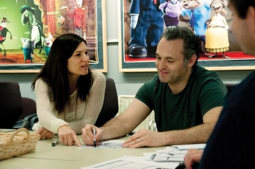 (from left) Michelle Murdocca and Genndy Tartakovsky