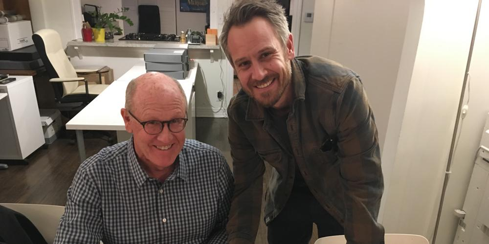 Exec producer Glen Keane (voice of Trash Truck/Grandpa) and series creator Max Keane (voice of Dad)