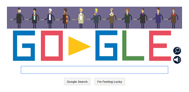 Google Doodle Celebrates Doctor Who's 50th