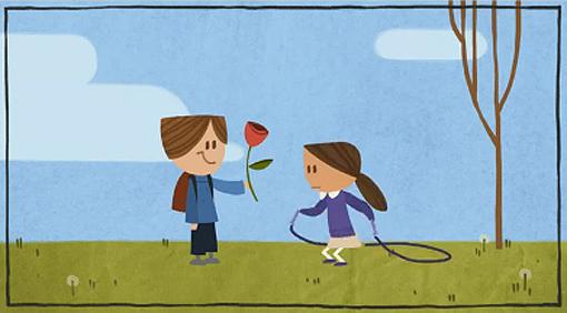 Valentine's Day Google Doodle by Michael Lipman