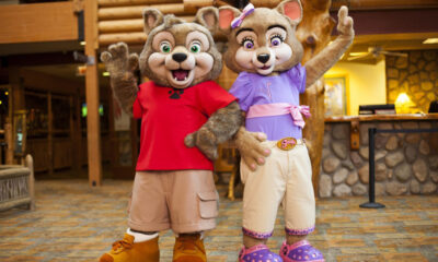 Wiley Wolf & Violet Wolf at Great Wolf Lodge
