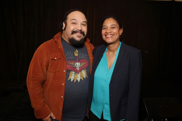 (from left) Jorge Gutierrez and Vanessa Morrison