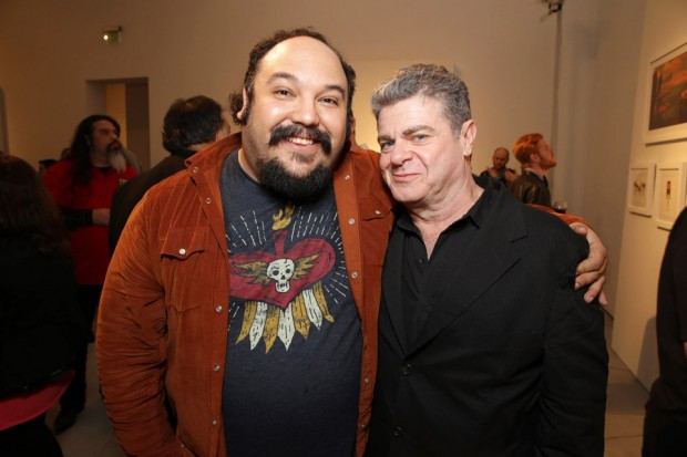 (from left) Jorge Gutierrez and Gustavo Santaolalla