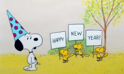 Happy New Year, Charlie Brown (1986) production cel detail (image: Animation Sensations)