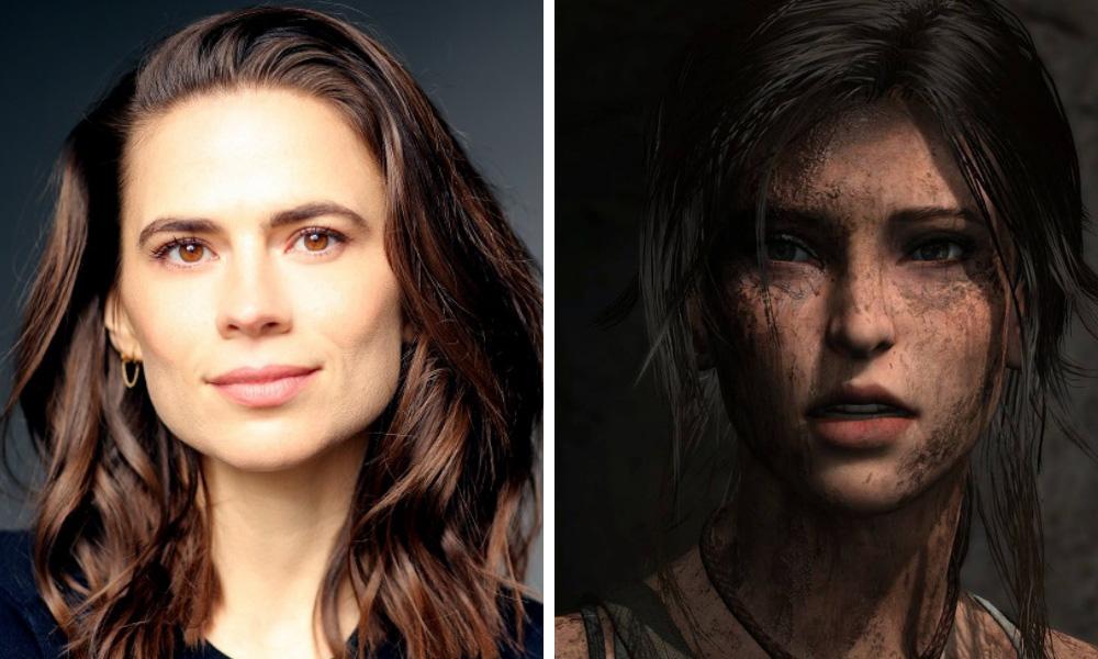Hayley Atwell [Photo: Faye Thomas] | Lara Croft in Shadow of the Tomb Raider [Square Enix]