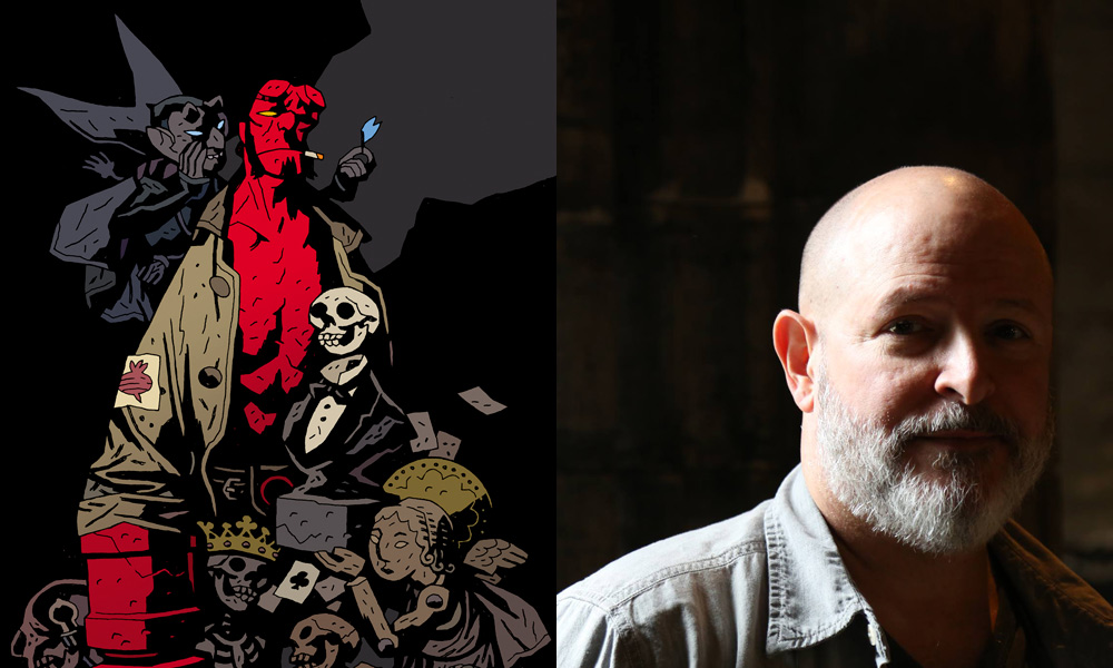 Hellboy and Mike Mignola