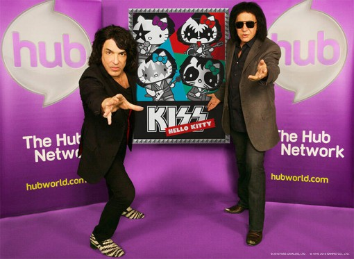 (from left) Paul Stanley and Gene Simmons