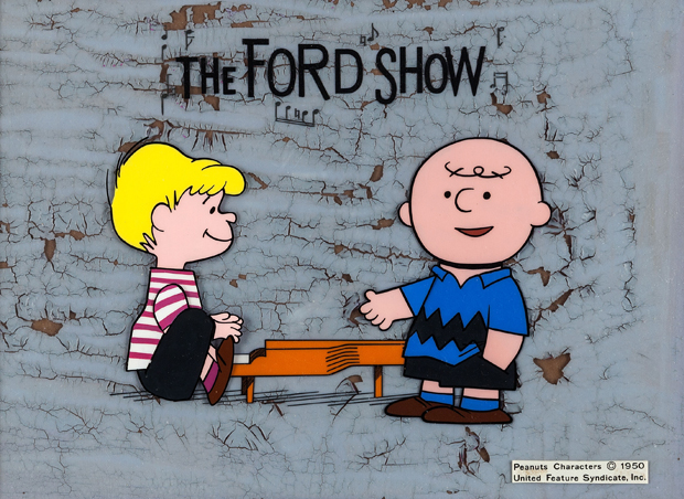 The Ford Show Schroeder and Charlie Brown Peanuts Opening Sequence Production Cel Set-Up (Bill Melendez/Playhouse Pictures, 1960).
