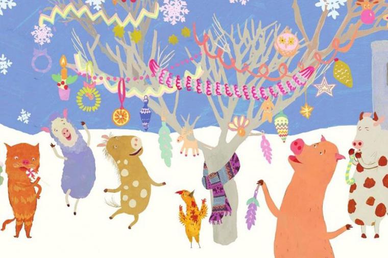 Hopscotch and the Christmas Tree