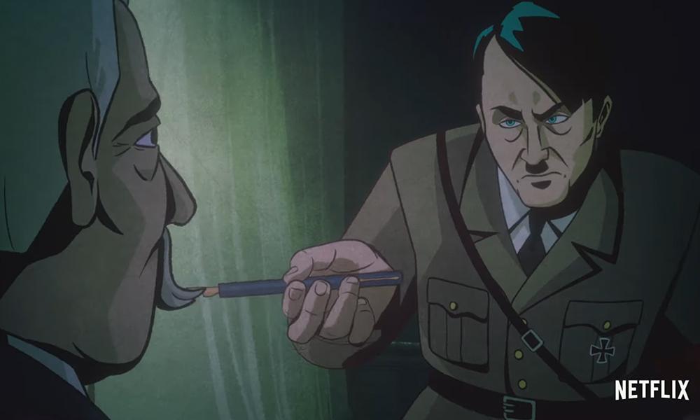 Figurinha carimbada, hitler não podia ficar de fora. Aqui, vemos a versão cartunizada do ditador em como se tornar um tirano