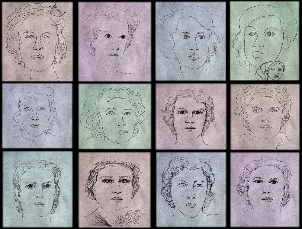 Faith Hubley portraits