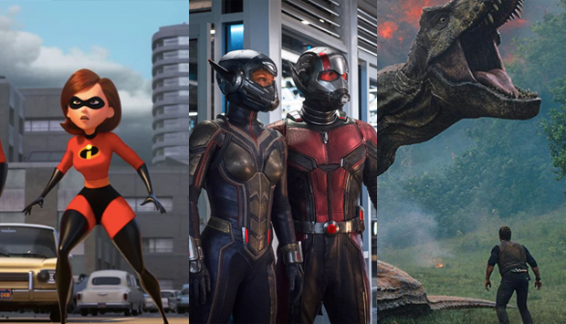 The Incredibles 2, Ant-Man and the Wasp, and Jurassic Park: Fallen Kingdom