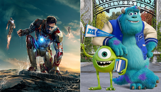 Iron Man 3 / Monsters University