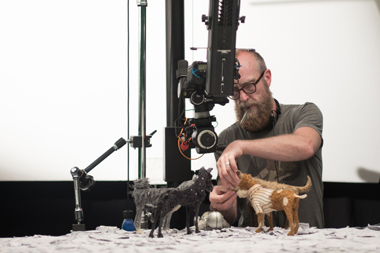 On set photo for Isle of Dogs