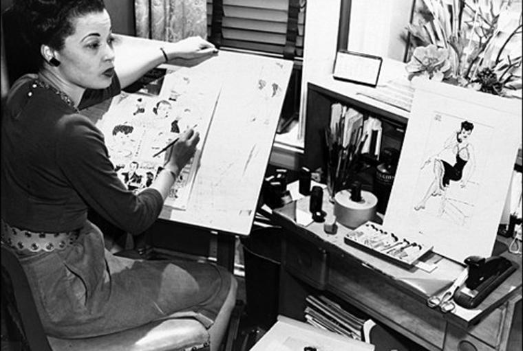 Eisner Hall of Fame inductee Jackie Ormes, c. 1940.