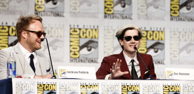 (L-R): Jackson Publick and Doc Hammer during Adult Swim's The Venture Bros. panel at San Diego Comic-Con. [Photo courtesy Adult Swim]