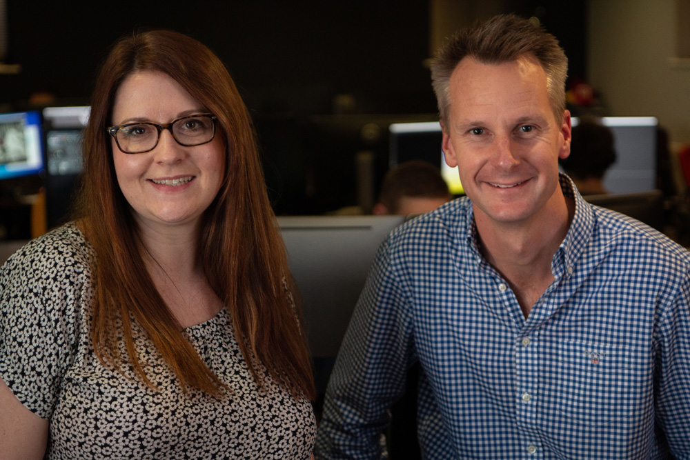 Realtime's head of production Jane Forsyth and CEO Tony Prosser.