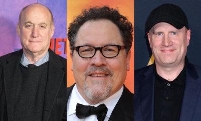 Jeph Loeb, Jon Favreau, and Kevin Feige