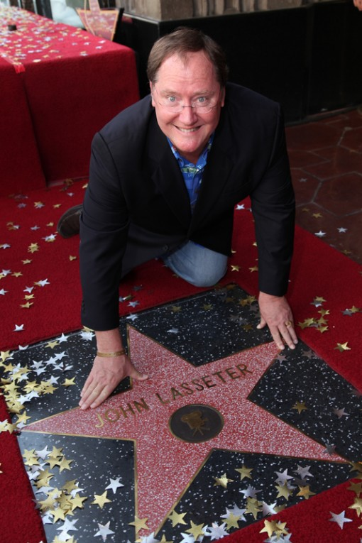 Chief Creative Officer, Walt Disney and Pixar Animation Studios and Principal Creative Advisor, Walt Disney Imagineering John Lasseter with his star at the John Lasseter Star Ceremony in front of the El Capitan Theatre in Hollywood, CA on Tuesday, November 1, 2011. (Alex J. Berliner/ABImages)