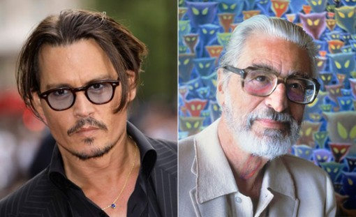 Johnny Depp (left) and Theodor Geisel (aka Dr. Seuss)