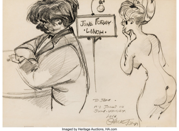June Foray Collecion Chuck Jones Illustration (1981)