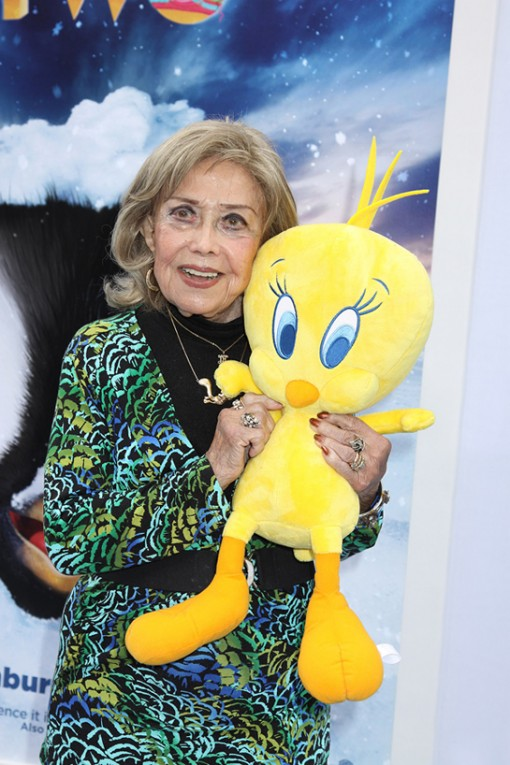 June Foray attends the screening of her latest short, the Oscar short-listed Warner Bros. toon, I Tawt I Taw a Putty Tat.